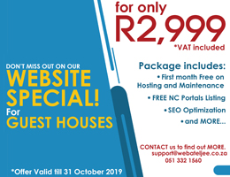 Website Special for Guest Houses | Alexander Bay Accommodation, Business & Tourism Portal